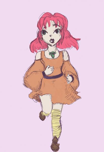 Reina/Lenna sketch by RelmArrowney