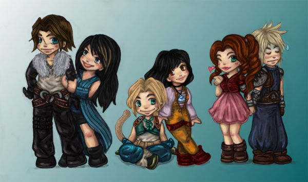 Final Fantasy Chibi by majdarts
