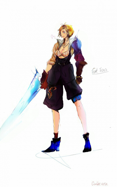 Fem! Tidus by Cookierosegirl