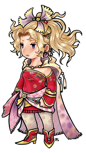 FF3 Style Terra Commission by roseannepage