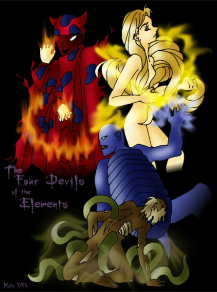 The Four Devils of the Elements by Katy