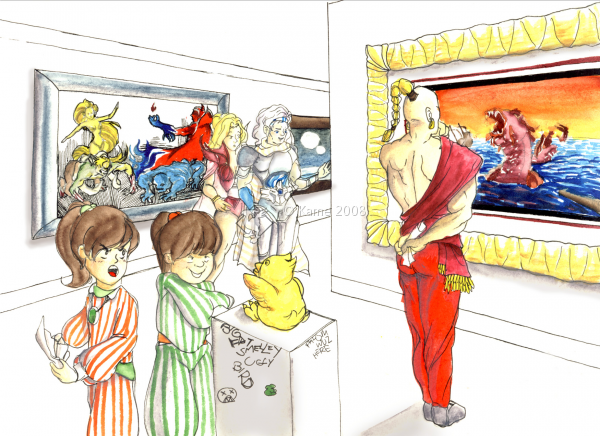 At The Art Gallery by Kame