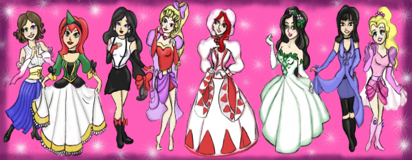 Final Fantasy Princesses by RelmArrowney