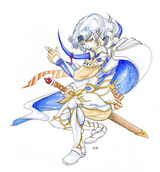 Watercolored Amano-esque Cecil by Kame