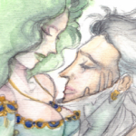 Rydia and Edge - Embrace by Kame