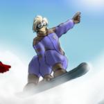 Snowboard Race by ElPanachino