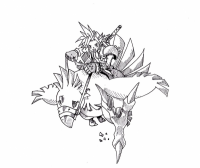 Cloud and Chocobo by jowellens