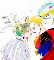 Kefutina Birthday sketch by Cookierosegirl
