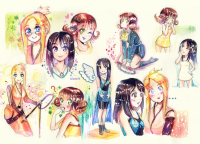 Final Fantasy VIII Girls by Izunichi