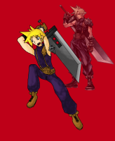 'Cloud Strife -Dissidia-' by Dark Paladin Danny