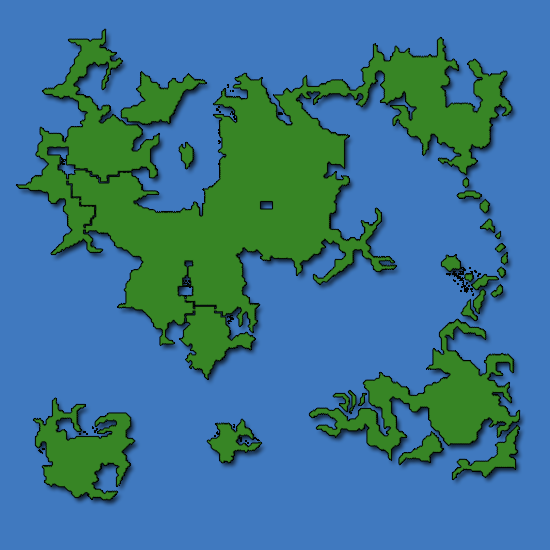 Final Fantasy IV World Map - Caves of Narshe