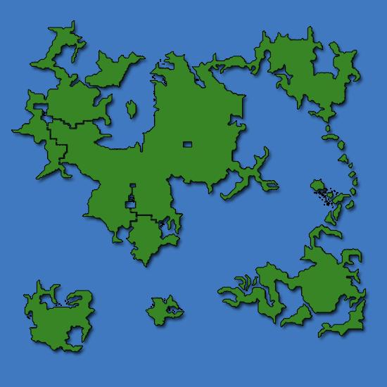 Final Fantasy IV World Map Caves of Narshe